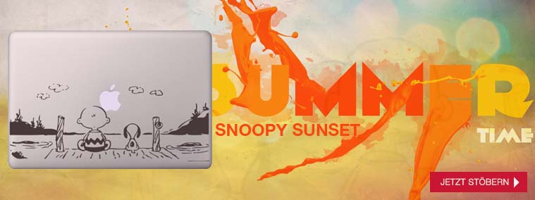 Snoopy Macbook Sticker