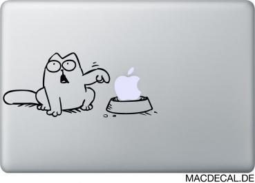 MacBook Aufkleber Simon's Cat