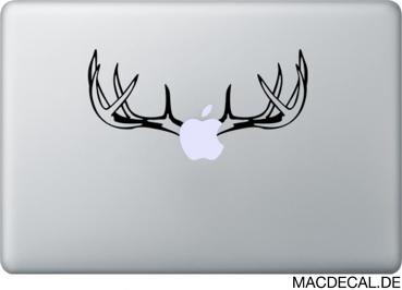 MacBook Sticker Aufkleber - Hirschgeweih