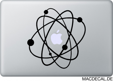 MacBook Sticker Aufkleber - Atom