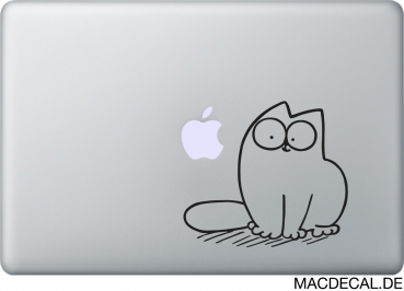 MacBook Sticker Simon's Cat