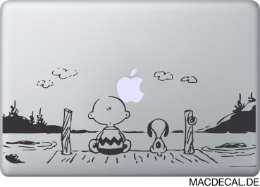 MacBook Sticker Snoopy Sunset