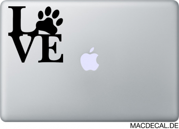 MacBook Sticker Aufkleber - Love Pets