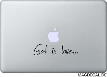 MacBook Sticker Aufkleber God Is Love