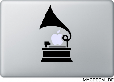 MacBook Sticker Aufkleber - Grammophon