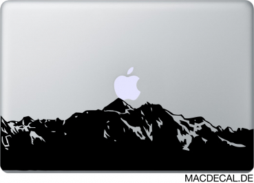 MacBook Sticker Aufkleber - Mountain