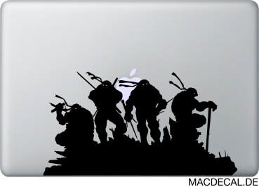 MacBook Sticker Aufkleber Teenage Mutant Ninja Turtles