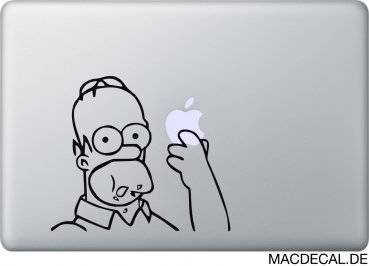MacBook Sticker Homer Simpson eating