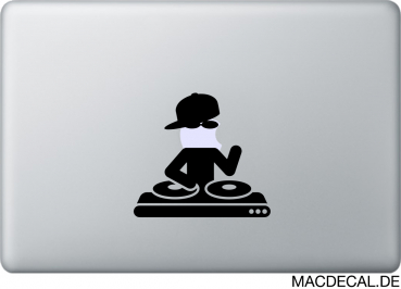 MacBook Sticker Aufkleber - DJ
