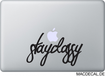 MacBook Sticker Stay Classy