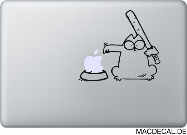 MacBook Sticker Simon's Cat base