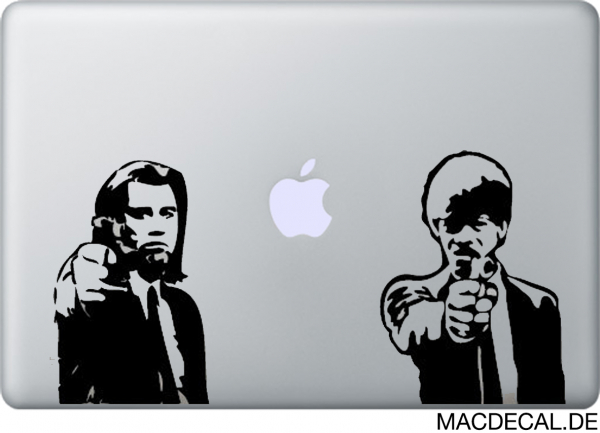 MacBook Sticker Aufkleber - Pulp Fiction
