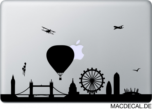 MacBook Sticker Aufkleber London