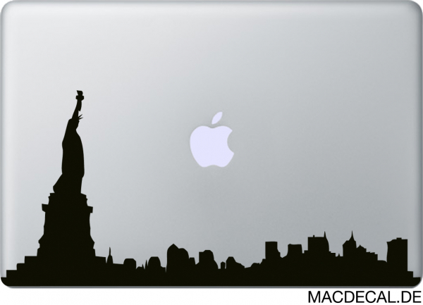 MacBook Sticker Aufkleber New York