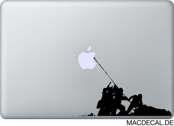 MacBook Sticker Banksy Flag