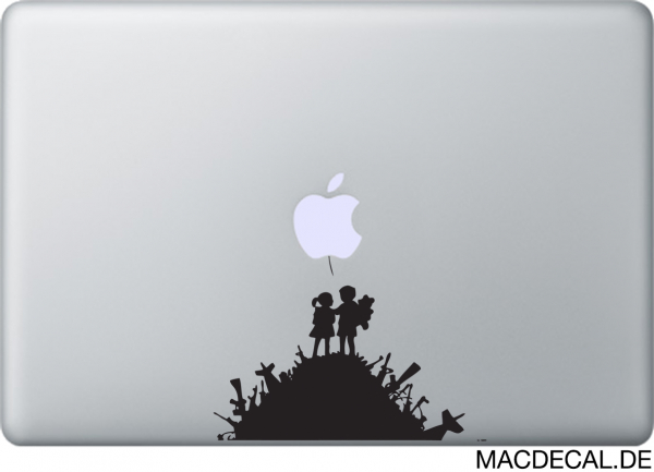 MacBook Sticker Banksy Kids in Love