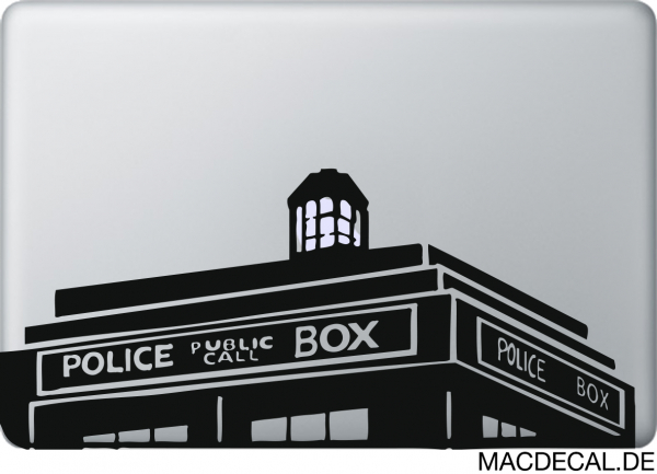 MacBook Sticker Police Box