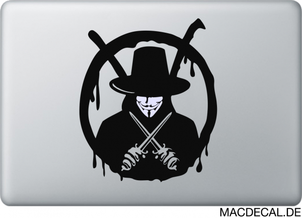 MacBook Sticker V Vendetta