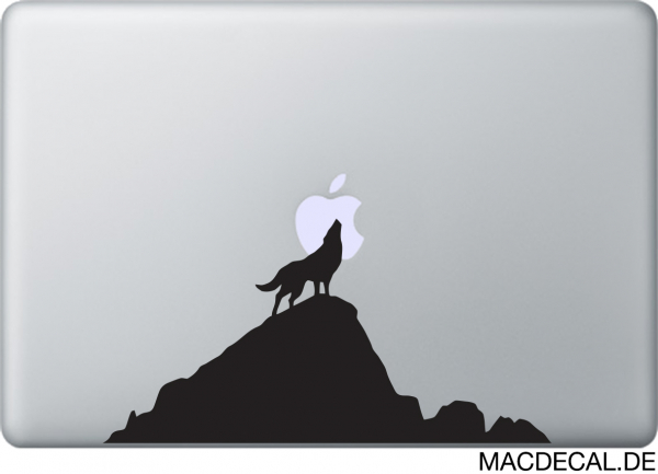 MacBook Sticker Wolf