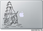 MacBook Sticker Aufkleber - Black Pearl