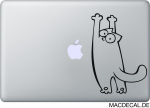 MacBook Sticker Simon's Cat Hang