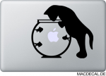 MacBook Sticker Aufkleber - Cat Fish