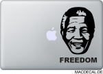 MacBook Sticker Aufkleber - Nelson Mandela