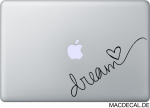 MacBook Sticker Aufkleber - Dream