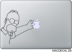 MacBook Sticker Aufkleber Homer Simpson