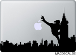MacBook Sticker Aufkleber - King Kong