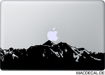 MacBook Sticker Aufkleber Mountain