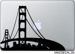 MacBook Sticker Aufkleber - San Francisco