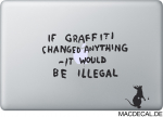 MacBook Sticker Banksy Rat Graffiti