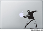 MacBook Sticker Banksy Throwing Man