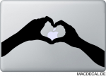 MacBook Sticker Heart Herz