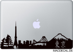 MacBook Sticker Aufkleber - Tokio