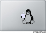 MacBook Sticker Tux Aufkleber