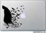 MacBook Sticker Aufkleber - Batman Fledermaus